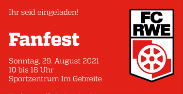 Ihr seid eingeladen! Euer Fanfest am 29. August