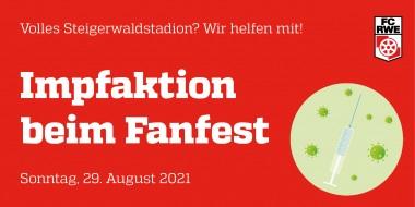 Impfaktion beim Fanfest am 29. August