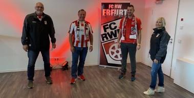 Erster VIP-Ticket-Gewinner zu Gast im Steigerwaldstadion